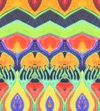 Ornament indian orange blue yellow  red  purple  orange space Royalty Free Stock Photos