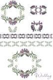 ornament kwiecisty Akwareli karta szablon Obrazy Royalty Free