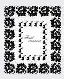 ornament kwiecisty Projekt Rośliny rama Obrazy Royalty Free