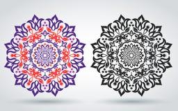 ornament kwiecisty również zwrócić corel ilustracji wektora Orientała wzór mandala Islamski, Arabski, indianina styl Jaskrawy roc ilustracja wektor