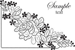 Ornament lace  flower  beauty Royalty Free Stock Images