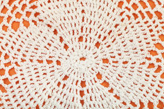 Ornament of lace placemat embroidered by crochet Royalty Free Stock Images