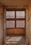 Ornament lattice window in india Stock Image