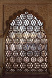 Ornament lattice window in india Royalty Free Stock Image