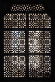 Ornament lattice window in india Stock Photography