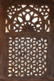 Ornament lattice window in india Royalty Free Stock Photography