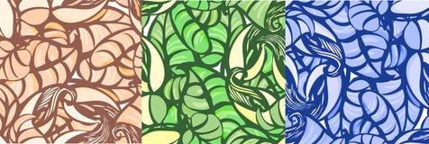 Ornament leluje i liście Bezszwowy wzór kalii leluje ilustracji