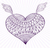 Ornament line heart shape for your design Stock Images