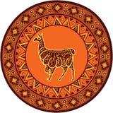 Ornament with llama Royalty Free Stock Photo
