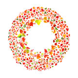 Ornament made of drawn autumn leaves Stock Image