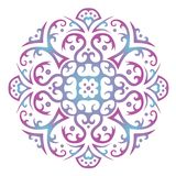 Ornament mandala on white background stock illustration
