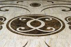 Ornament on a marble floor Royalty Free Stock Photography