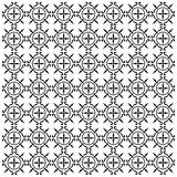 Ornament Mediaeval. Seamless vector pattern black color Royalty Free Stock Photography