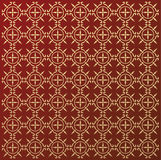 Ornament Mediaeval. Seamless vector pattern gold color Royalty Free Stock Photo