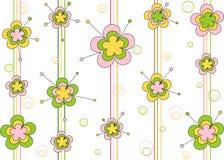 Ornament met bloemen Stock Afbeeldingen