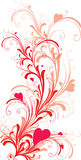 Ornament met hart-vormen vector illustratie