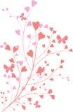 Ornament met hart-vormen stock illustratie