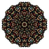 Ornament met mandala Rond vector hand-drawn patroon Royalty-vrije Stock Foto's