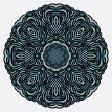 Ornament met mandala Rond vector hand-drawn patroon Stock Fotografie