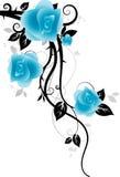 Ornament met rozen Stock Afbeelding