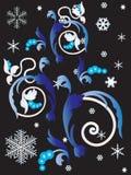 Ornament met sneeuwvlokken. Royalty-vrije Stock Fotografie