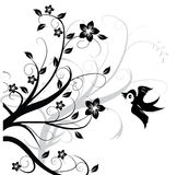 Ornament met vogel Royalty-vrije Stock Foto