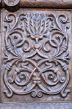 Ornament on a metal door Royalty Free Stock Images