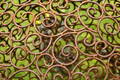 Ornament of metal plated vintage floral ,victorian Style Stock Photos