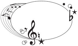 Ornament of musical symbols Royalty Free Stock Image