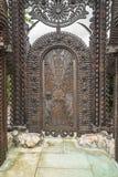 Ornament na drewnianym drzwi obraz royalty free