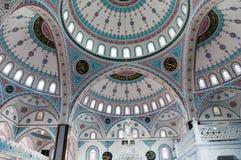 Ornament na kopule Błękitny meczet w Manavgat, Turcja Obraz Stock