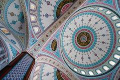 Ornament na kopule Błękitny meczet w Manavgat, Turcja Zdjęcie Stock