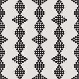 Ornament naadloos zwart-wit cijfer van cirkels Stock Afbeelding