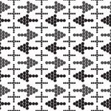 Ornament naadloze pijlen in verschillende richtingen Kruis Stock Afbeeldingen
