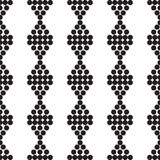 Ornament naadloze zwarte zwart-wit mokken Stock Fotografie