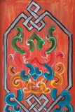 Ornament op het hout Royalty-vrije Stock Afbeelding