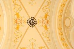 Ornament op het plafond Royalty-vrije Stock Afbeelding