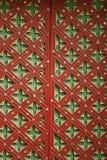 Ornament op oude deuren Stock Foto