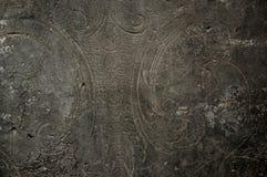 Ornament op oude steenmuur Stock Afbeelding