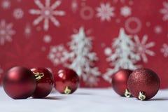 Ornament op witte en rode achtergrond Royalty-vrije Stock Foto