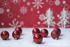 Ornament op witte en rode achtergrond Royalty-vrije Stock Afbeelding