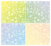 Ornament oval bubbles on a color background Stock Photos