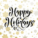 Ornament pattern background Happy Holidays golden decoration  text Royalty Free Stock Image