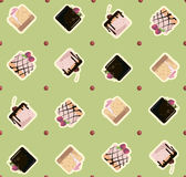 Ornament pattern cakes Royalty Free Stock Image