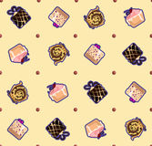 Ornament pattern cakes Royalty Free Stock Photos