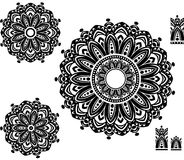 Ornament Pattern with pattern brash. Round Ornament Pattern with pattern brash stock images