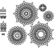 Ornament Pattern with pattern brash. Round Ornament Pattern with pattern brash Royalty Free Stock Images