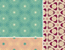 Ornament pattern set. Collection of fine pattern tiles Royalty Free Stock Photography