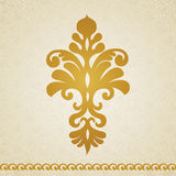 Ornament pattern in Victorian style. Symmetric ornament pattern in Victorian style on seamless curls background. Element for design. It can be used for Royalty Free Stock Photo
