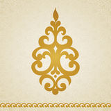 Ornament pattern in Victorian style. Symmetric ornament pattern in Victorian style on seamless curls background. Element for design. It can be used for Stock Images